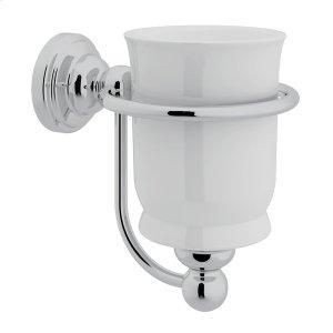 Polished Chrome Perrin & Rowe Edwardian Porcelain Wall Mount Single Tumbler Holder Product Image
