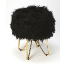 Tastefully textured and fashion forward, this faux fur stool is sure to make a statement in any space. Founded atop a hair pin leg, metal base, this piece features a round seat that's covered in faux fur upholstery for a hint of plush glamour. Rest you
