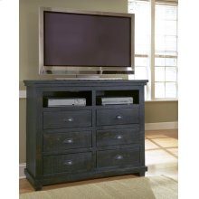 Media Chest - Distressed Black Finish