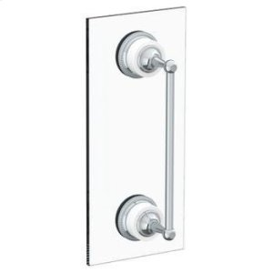 "Venetian 12"" Shower Door Pull/ Glass Mount Towel Bar Product Image"