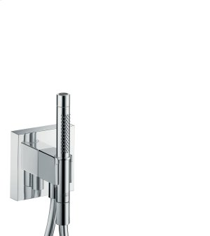 Chrome Porter unit 120/120 with baton hand shower 2jet and shower hose Product Image