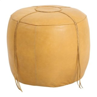 Matteo Leather Ottoman Natural