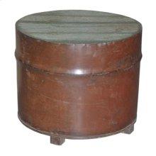 Wood Round Iron Box