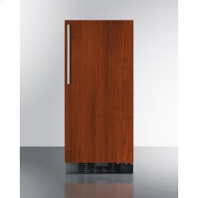 """15"""" Wide All-refrigerator for Built-in or Freestanding Use With Integrated Frame for Overlay Panels; Replaces Ff1538bif"""