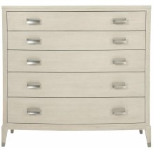 East Hampton Tall Chest in Cerused Linen (395)