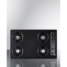 "30"" Wide Cooktop In Black, With Four Burners and Battery Start Ignition; Replaces Ttl05p"