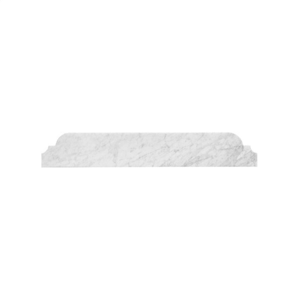 "White Carrara Marble Bullnose Cove Style Backsplash. 36.5"" Wide"