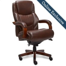 Delano Big & Tall Executive Office Chair, Chestnut Brown