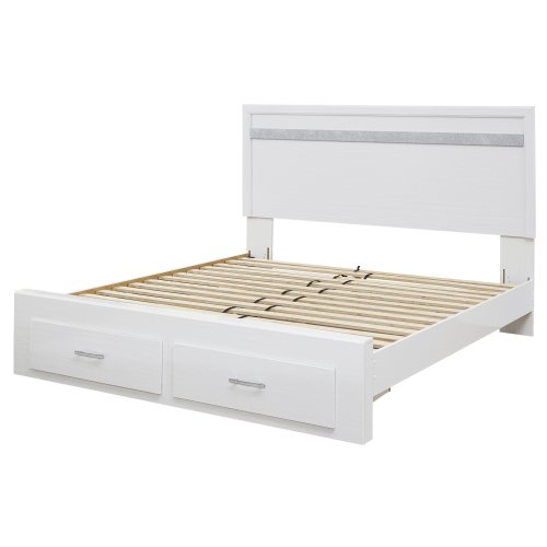 Jallory - White 4 Piece Bed Set (King)