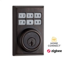 Contemporary SmartCode Deadbolt with Zigbee Technology - Venetian Bronze