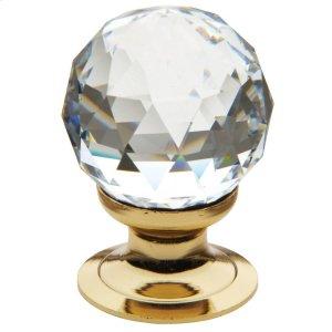 Polished Brass Swarovski Crystal Cabinet Knob Product Image