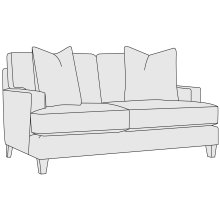 Mila Loveseat in Aged Gray (788)