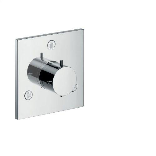Chrome Shut-off/ diverter valve Trio/ Quattro for concealed installation