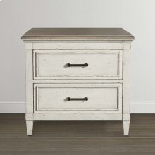Bella Wood Top Nightstand