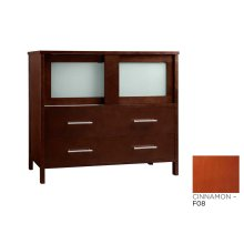 "Minerva 36"" Bathroom Vanity Base Cabinet in Cinnamon"