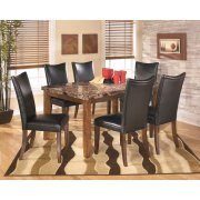 Lacey - Medium Brown 7 Piece Dining Room Set Product Image