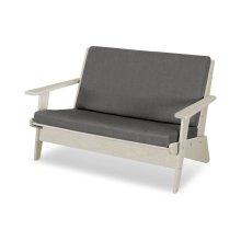 Sand & Blend Coal Riviera Modern Lounge Settee