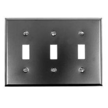 Switch Plate, Three Toggle