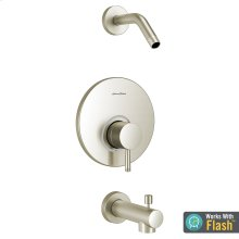 Serin Bath/Shower Trim with Pressure Balance Cartridge and Red/Blue Indicator Ring  American Standard - Brushed Nickel