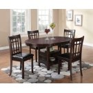 Lavon Transitional Espresso Five-piece Dining Set Product Image
