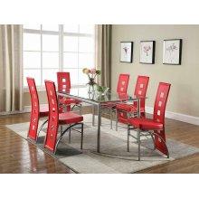 Los Feliz Contemporary Red Dining Chair