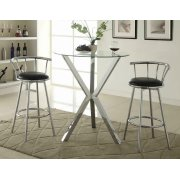 Contemporary Chrome Bar-height Table Product Image