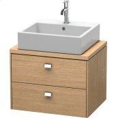 Brioso Vanity Unit For Console Compact, European Oak (decor)