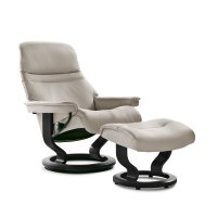 Stressless Sunrise Small Classic Base Chair and Ottoman Product Image