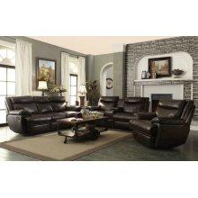 Macpherson Motion Brown Three-piece Living Room Set