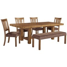 Tamilo - Gray/Brown 6 Piece Dining Room Set