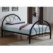 Transitional Black Twin Bed Product Image