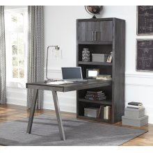 Raventown - Grayish Brown 2 Piece Home Office Set