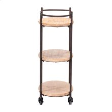 Tri Level Bar Cart Brown