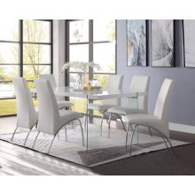 NOLAND, WHITE DINING TABLE
