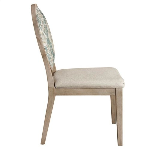 Custom Dining Oval X-Back Uph Side Chair