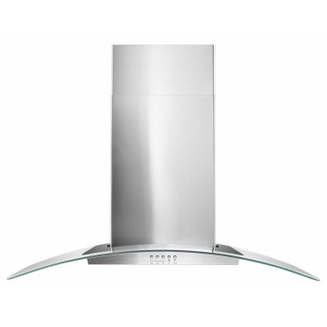 "36"" Concave Glass Wall Mount Range Hood - Stainless Steel"
