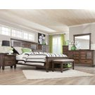 Franco Burnished Oak King Five-piece Bedroom Set Product Image