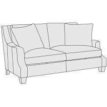 Larson Leather Loveseat in Portobello (789)