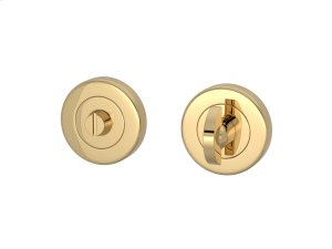 Half Moon Turn & Release Solid In Polished Brass Product Image