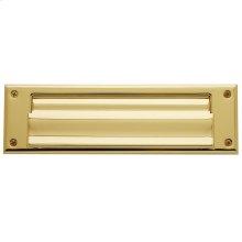 Lifetime Polished Brass Letter Box Plates