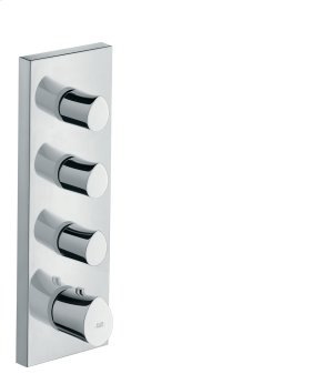 Chrome Thermostatic module 360/120 for concealed installation Product Image