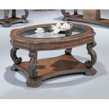 Garroway Traditional Brown Coffee Table