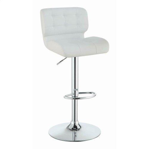 Contemporary White Upholstered Bar Stool