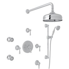 Polished Chrome Verona Thermostatic Shower Package with Verona Series Only Metal Lever