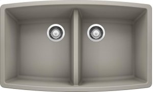 Blanco Performa Equal Double Bowl - Concrete Gray Product Image