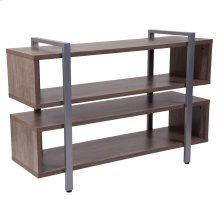 Rustic Wood Grain Finish TV Stand and Media Console