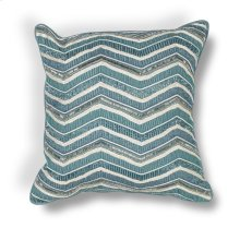 "L190 Teal Chevron Pillow 18"" X 18"""