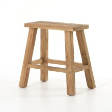 Natural Finish Hattie Rectangular Accent Stool
