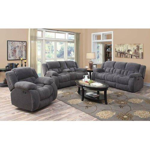 Weissman Grey Three-piece Living Room Set