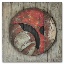 Globe Abstracted 39x39 Wood and Metal Art